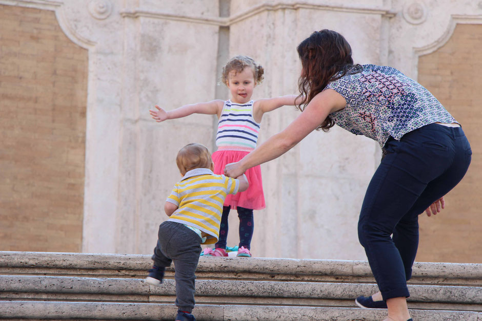 Spanish Steps Rome Italy with toddlers