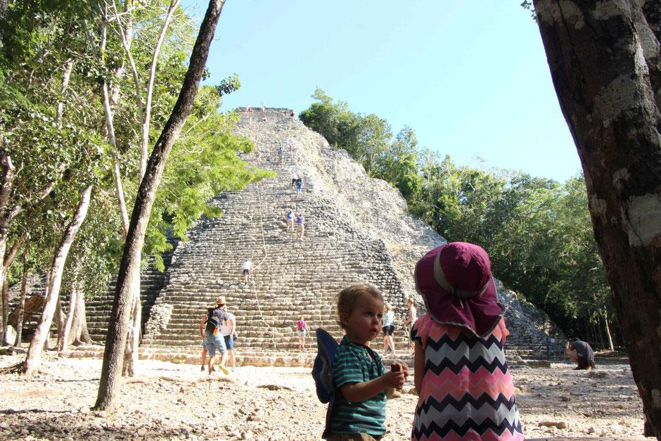 Coba Mayan Ruins Mexico Family Travel