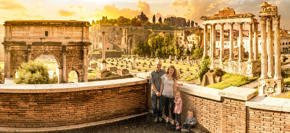 Roman Forum Family Travel Italy