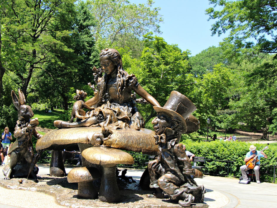 Alice Statue in Central Park NYC