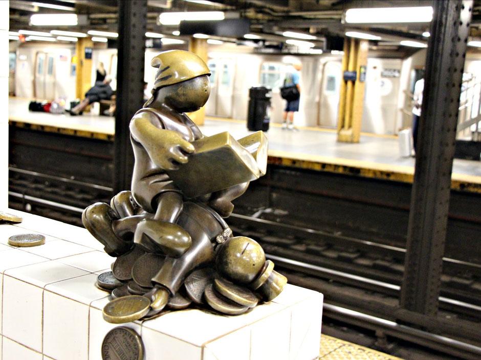 Subway Statue NYC