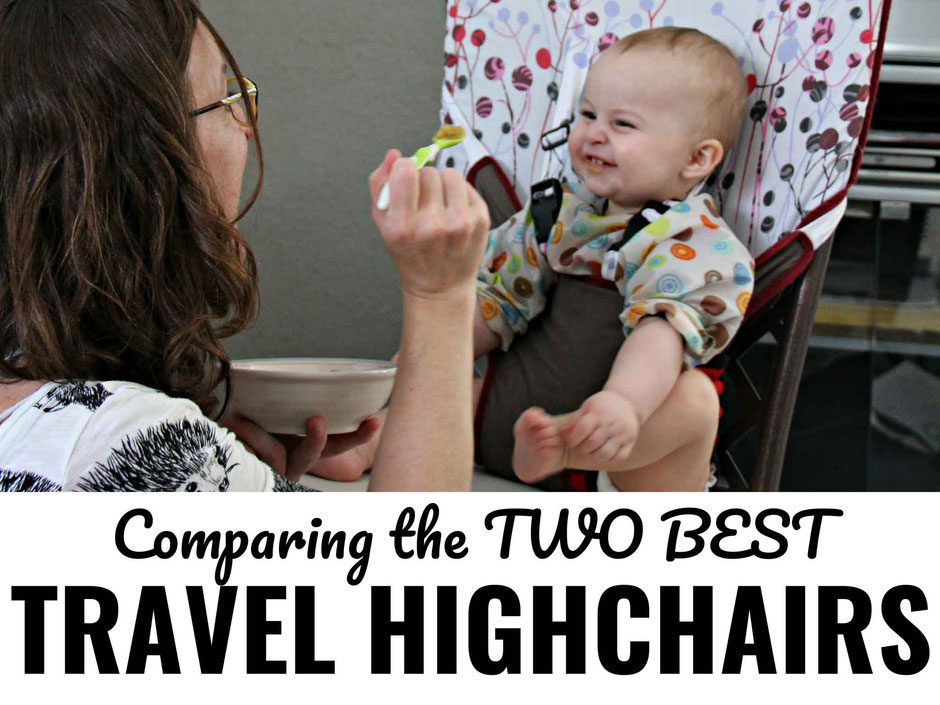 Travel highchair comparison | Fabric travel high chair | Clamp-On travel high chair | Family Travel  | Travel with baby, infant, toddler | Traveling with baby | Guzzie and Gus | Phil&teds lobster | Mountain Buggy Pod | MyLittleSeat