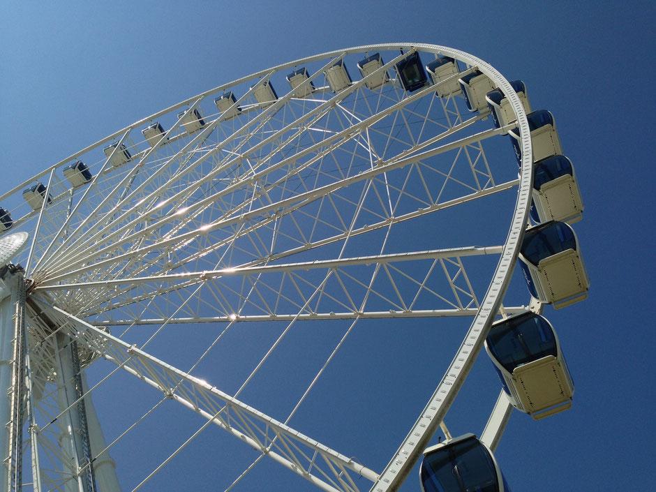 Niagara Falls Skywheel with a baby