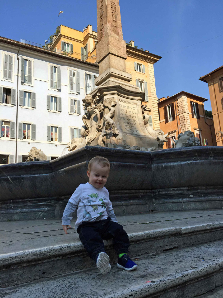 Rome Italy Pantheon with a baby or toddler