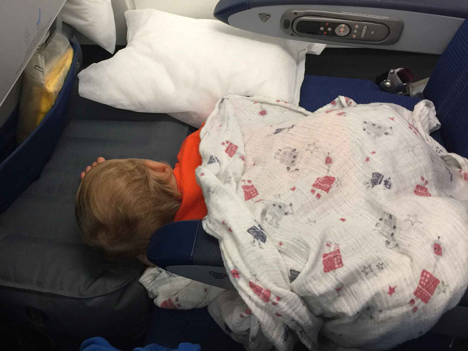 Getting a Toddler to Sleep on Airplane