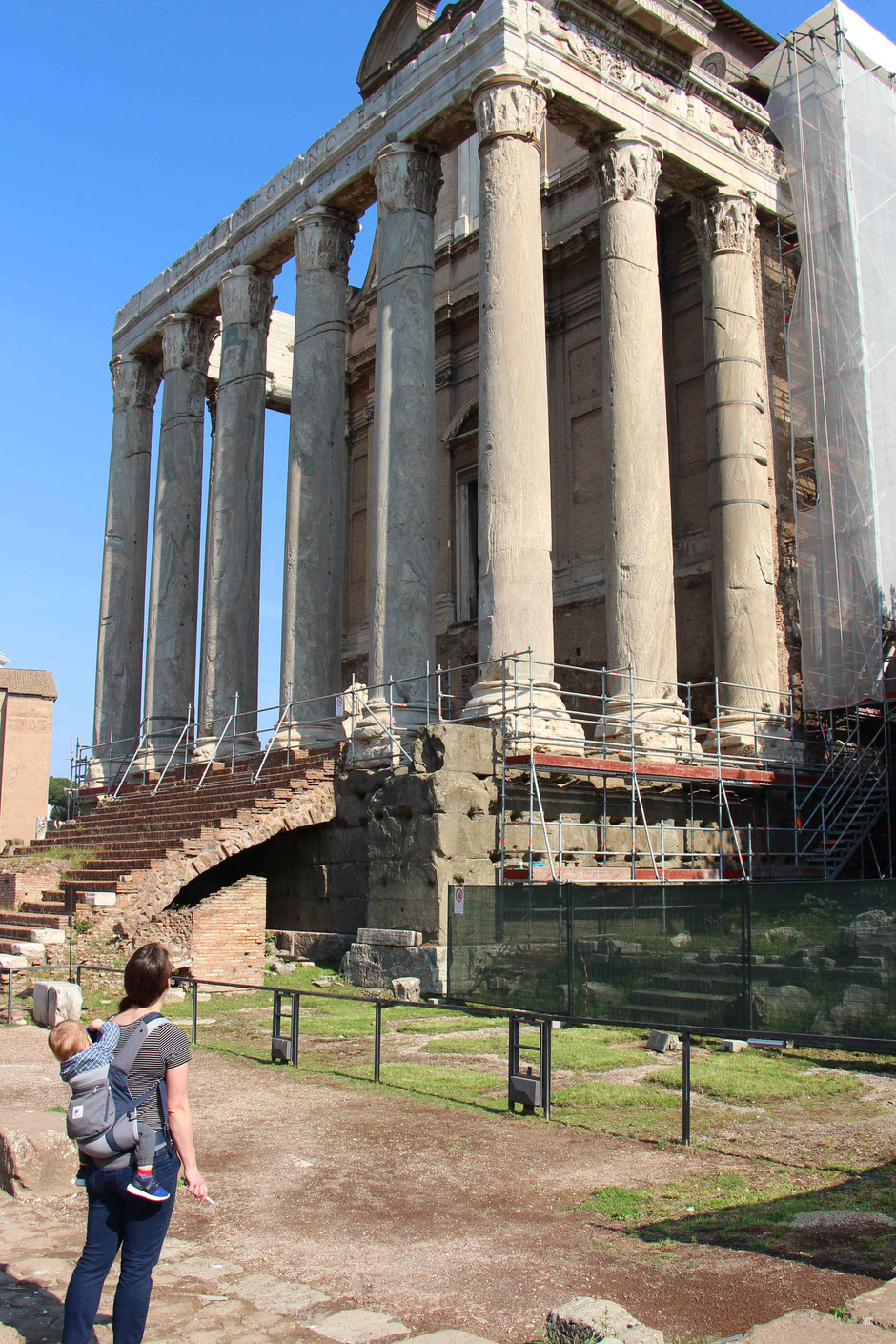 Roman Forum Rome Italy With a toddler