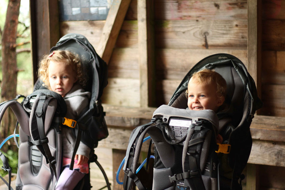 Hiking with toddlers in deuter kid comfort III