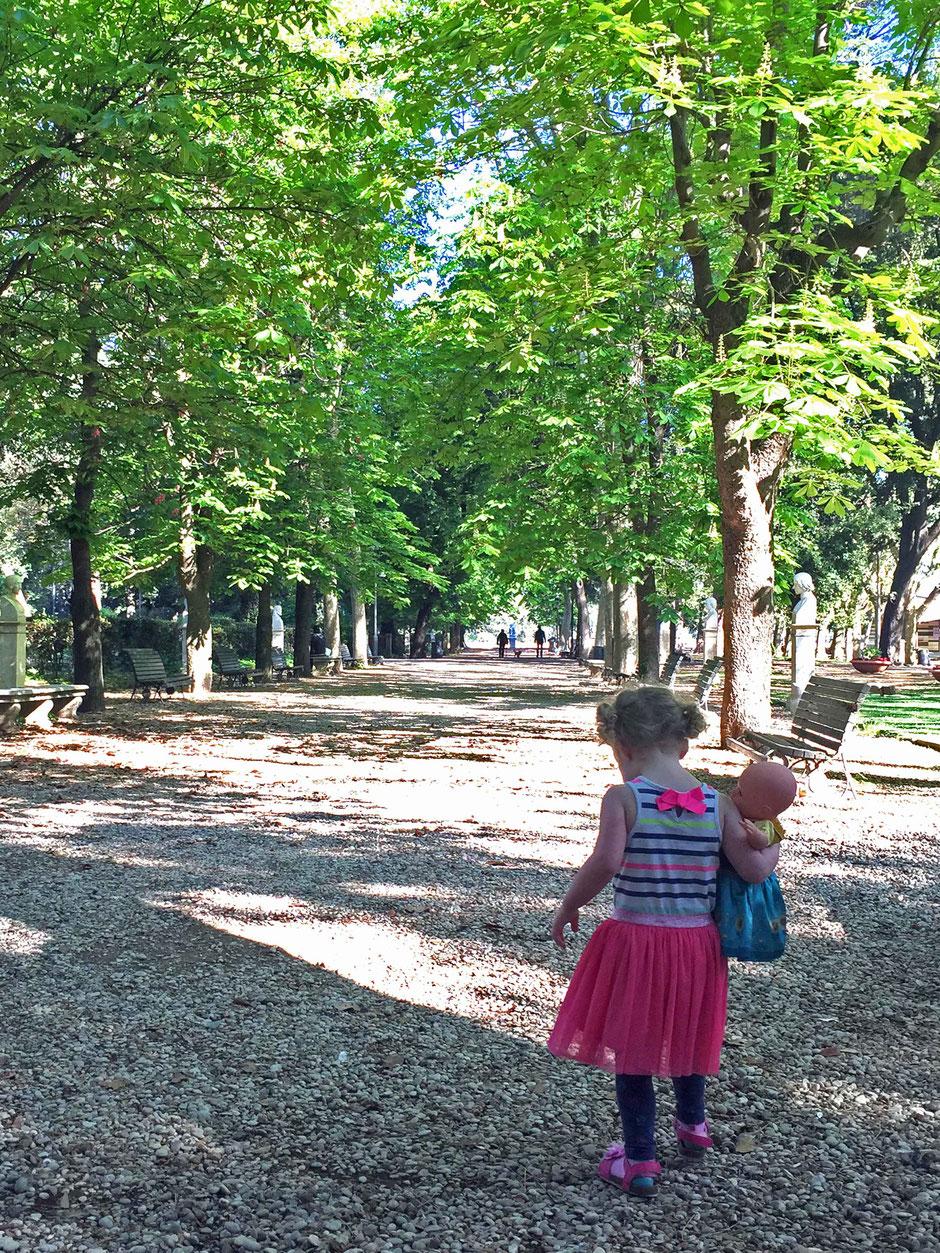 Villa Borghese Gardens Rome with children