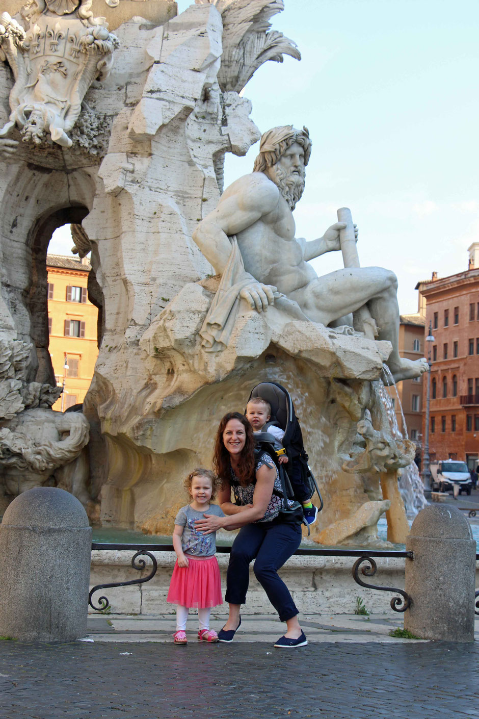 Piazza Navona Rome Family Travel Baby or Toddler