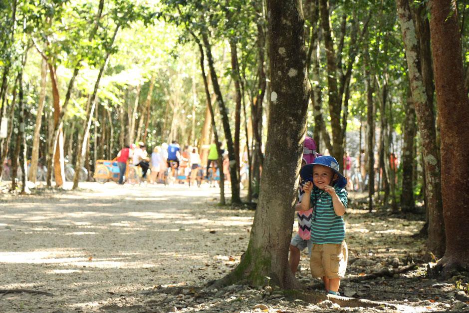 Visiting Coba Ruins Mexico With Toddler