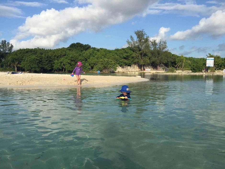 Baby Friendly Beaches Around Playa Del Carmen - Punta Esmerelda - Freshwater Stream Flows into the Ocean