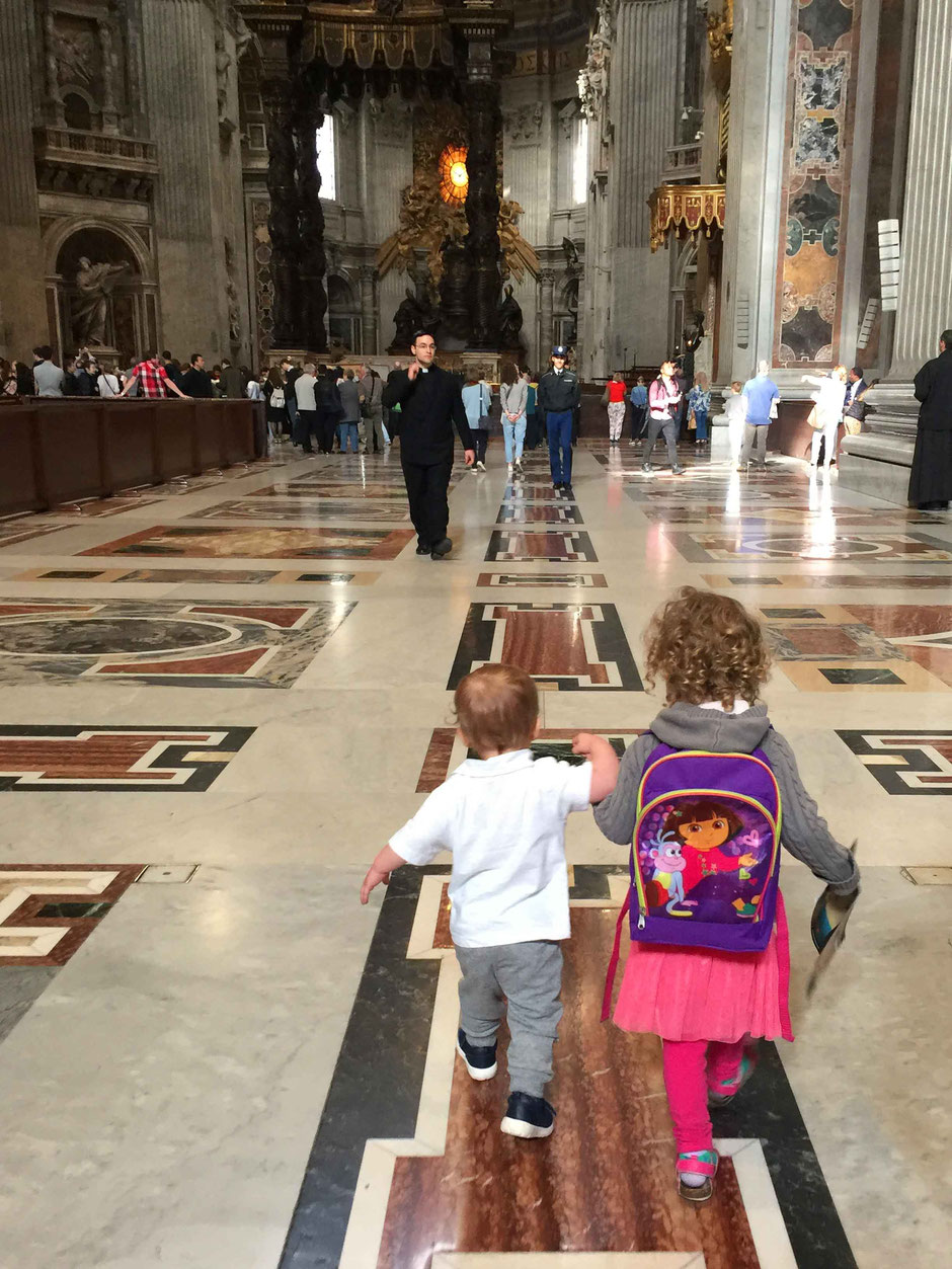 St Peters Basilica Rome Italy with a baby or toddler