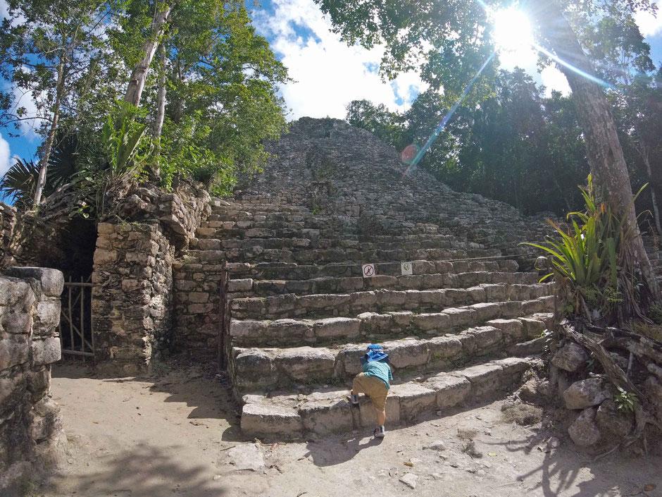 Mexico with Toddler Coba Ruins