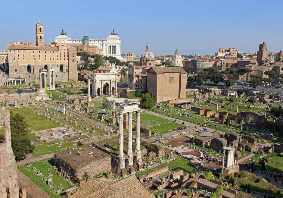Roman Forum Rome Italy With a baby