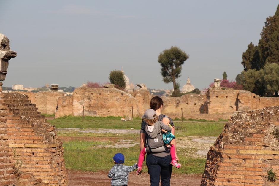 Rome Italy Stroller vs Baby Carrier