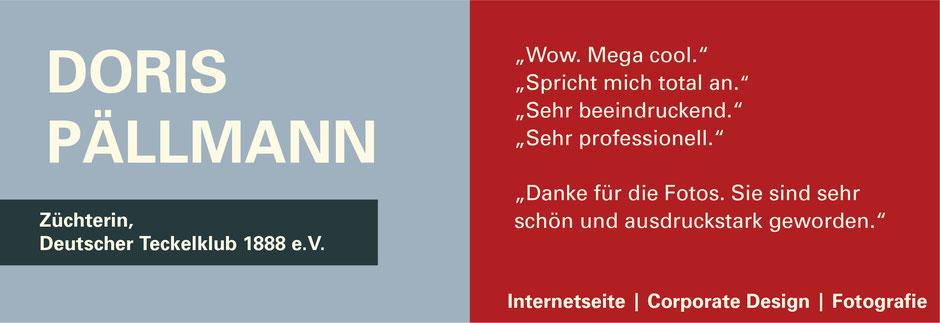 FUNKENFLUG DESIGN Kundenstimmen Züchterin Deutscher Teckelklub Doris Pällmann