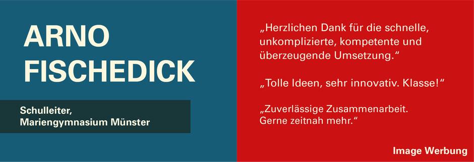 FUNKENFLUG DESIGN Kundenstimmen Schulleiter Marien-Gymnasium Arno Fischedick