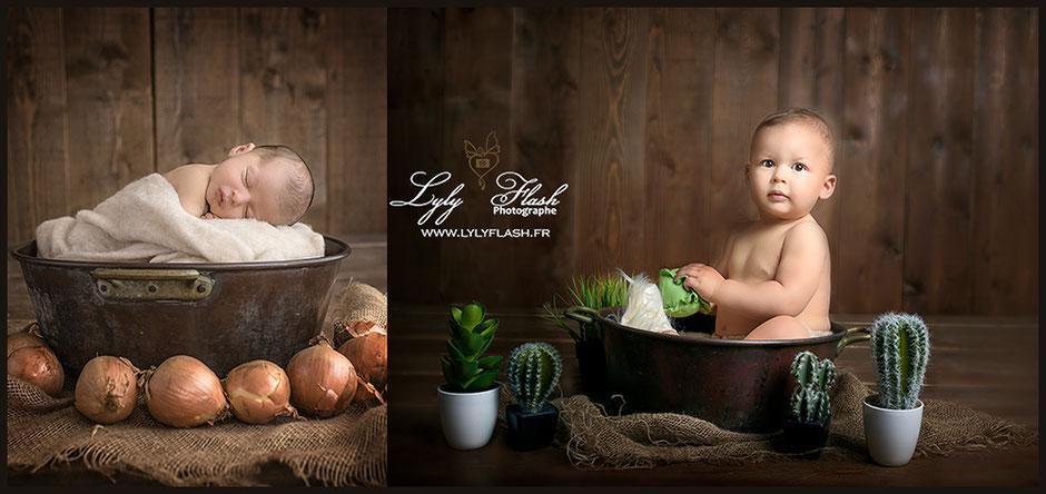 photographe Cannes photo bébé portrait d'art en studio