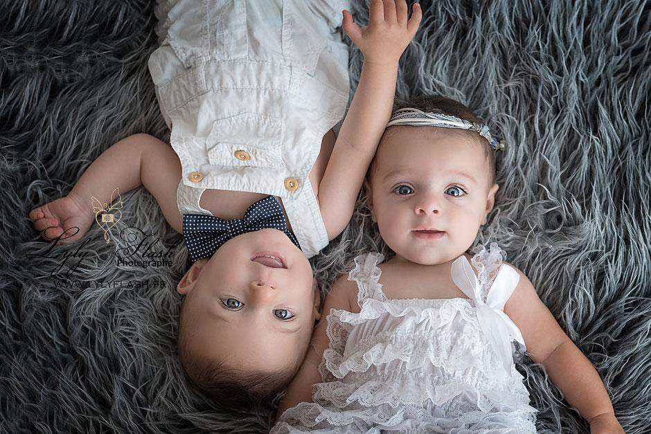 photographe pour jumeaux bébé dans le var de la france