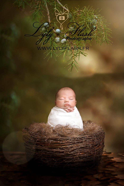 photographe nouveau-né bébé nature