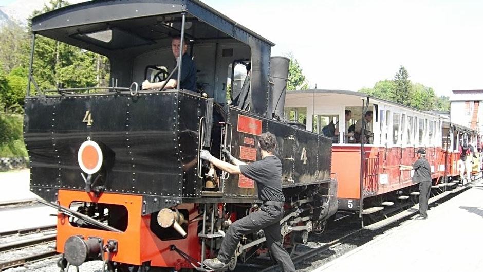 Achenseebahn am Achensee in Tirol
