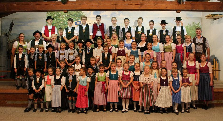 Kinder-und Jugendgruppe mit Ihrem Betreuerteam