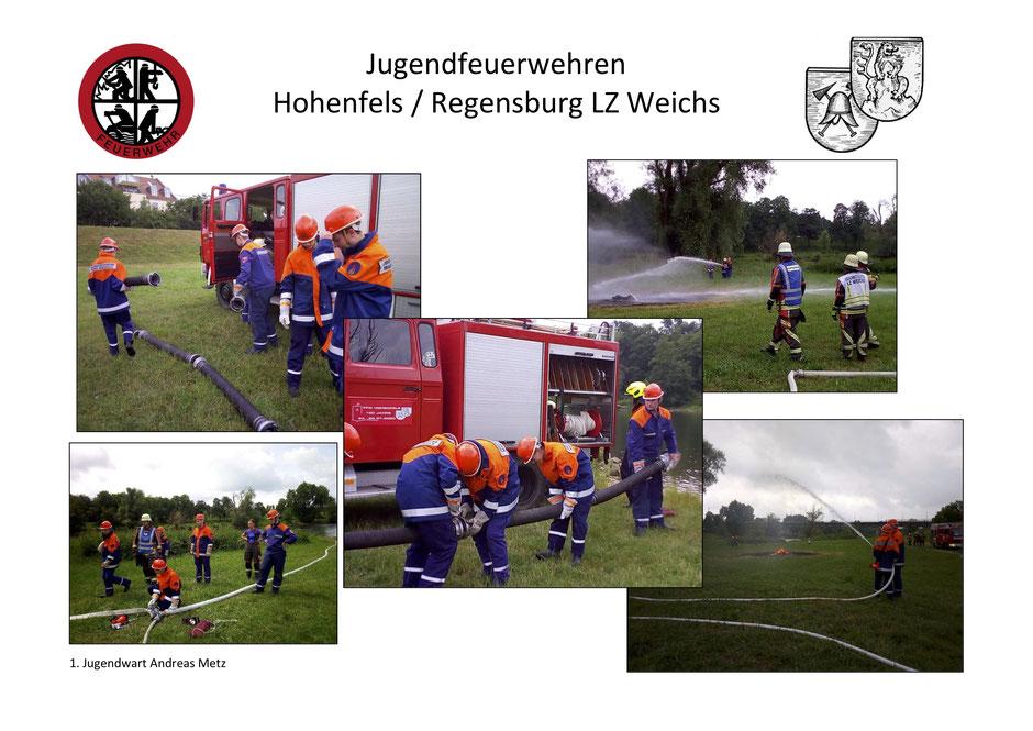 Übung Jugendfeuerwehr Hohenfels Regensburg