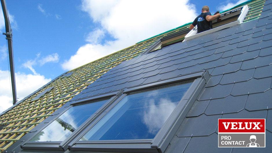 Pose de fenêtre de toit Velux dans le Brabant Wallon