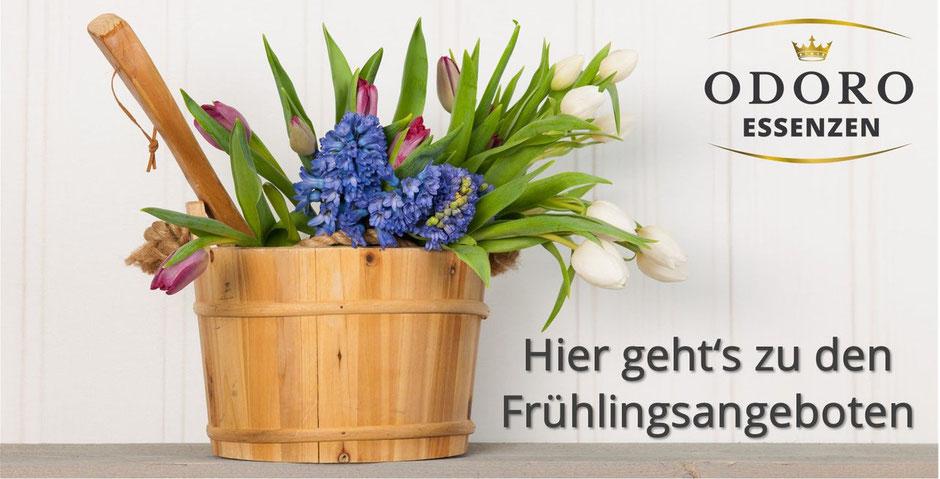 Sauna Frühlingsangebote bei Odoro Essenzen