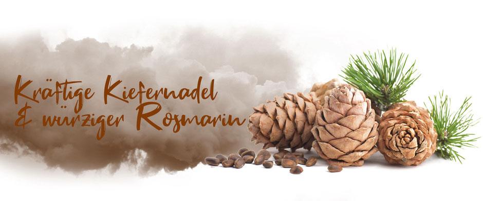 Saunamittel mit natürlicher Kiefernadel und Rosmarin von Odoro Essenzen.