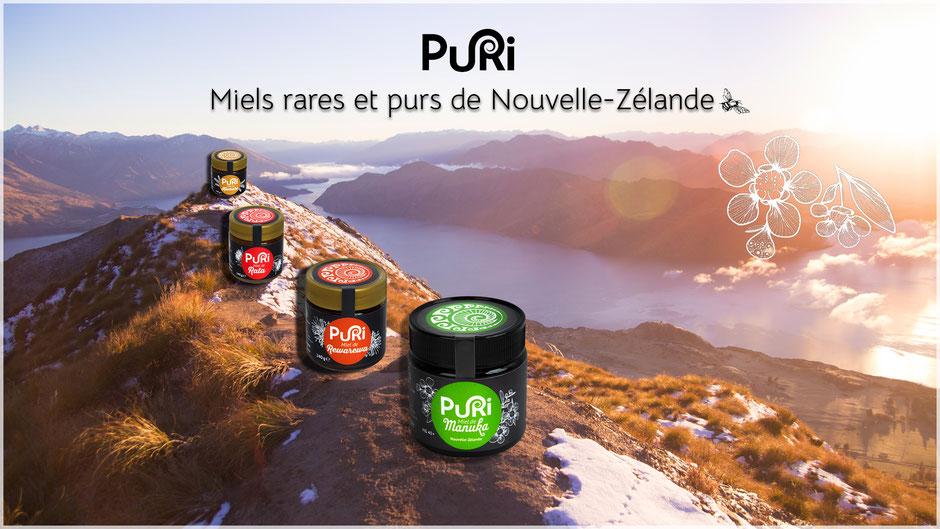 Puri Website Cover : Miels rares et purs de Nouvelle-Zélande