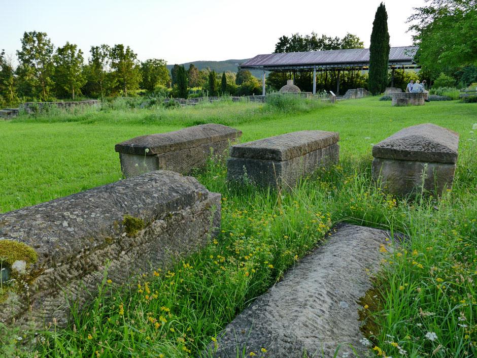 Steinsarkophage: Villa rustica Wachenheim