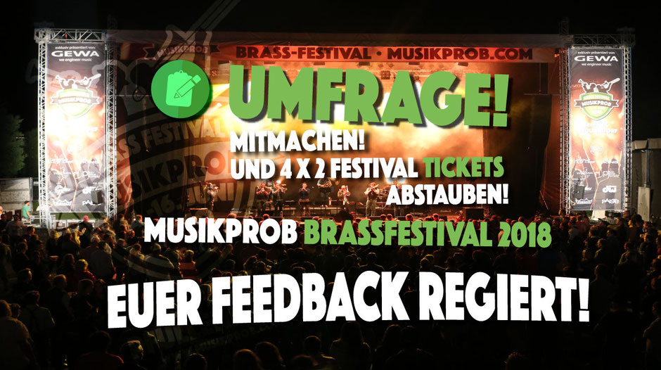 Umfrage 2018 zum Musikprob Brassfestival 2018