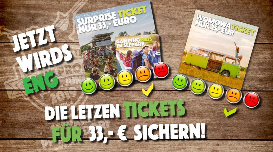 MUSIKPROB Festival Tickets für 33 EUR
