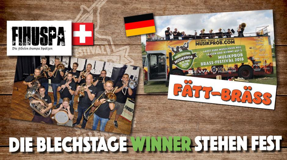 Blech-Stage-Winner auf dem Musikprob Brass-Festival 2018