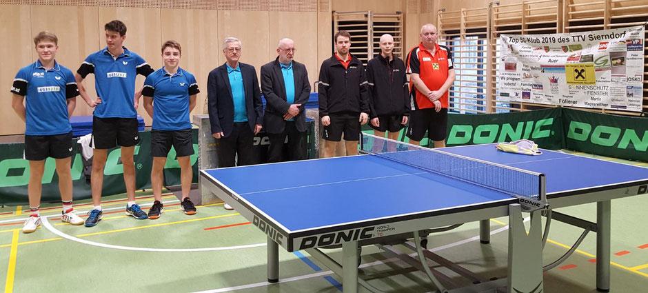 Die Salzburger kamen mit der jüngsten Mannschaft ever: Stütz, Eber und Bichler. An den Zählgeräten: Reinhard Blauensteiner und Marcel Petry.