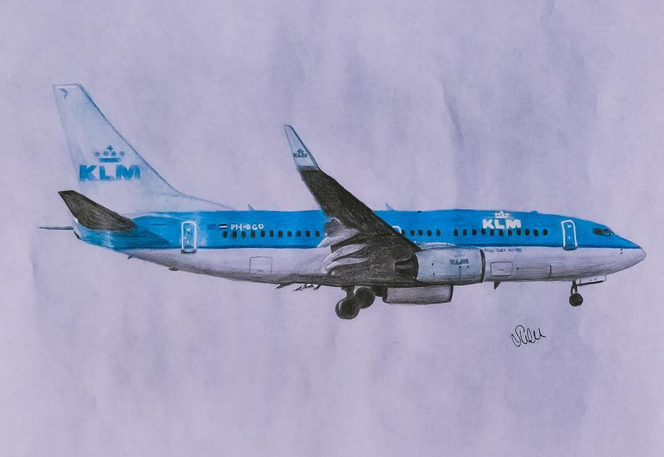 "Boeing Planedrawing ""Plane Drawing""  KLM B737 737 RoyalSirPlus RSP RoyalSP ""Royal SP"" ""Aviation Alliance"" ""Aviation Community"" ""Aviation and Lifestyle"" ""Aviation & Lifestyle"""