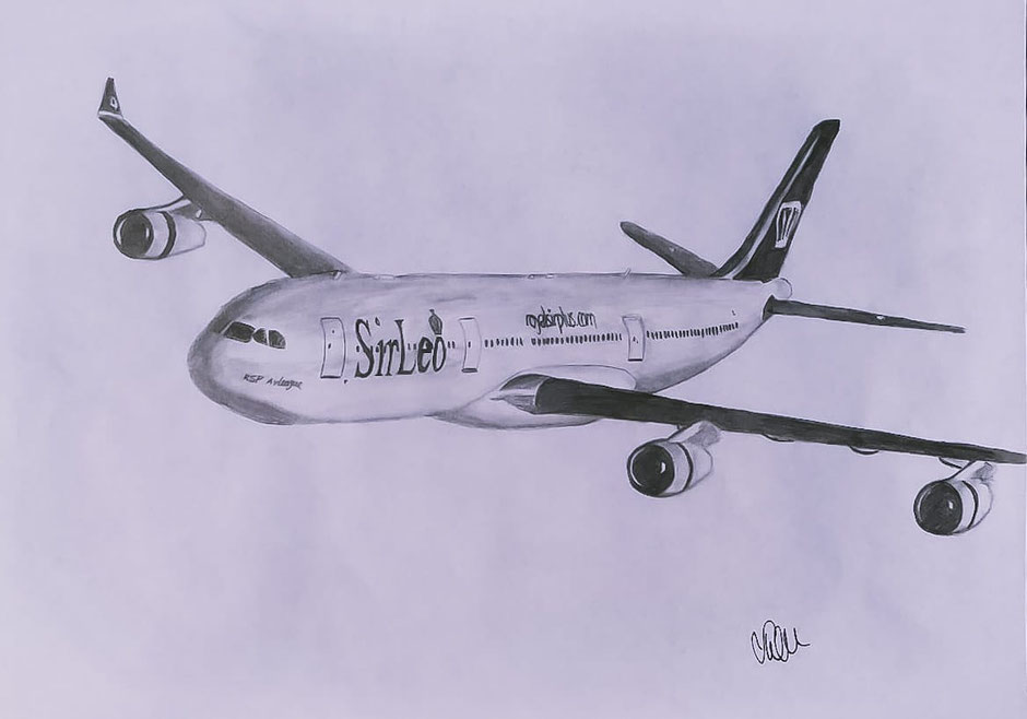 "Airbus Planedrawing ""Plane Drawing"" RoyalSirPlus RSP RoyalSP ""Aviation Alliance"" ""Aviation Community"" ""Aviation and Lifestyle"" ""Aviation & Lifestyle"" SirLeo ""Sir Leo"" Leo Leonardo ""Sir Leonardo"" ""VCEO Leo"" ""VCEO SirLeo"" A340 A343 A340300 ""Airbus A340"""