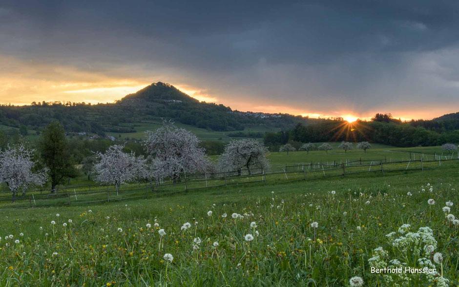 Sonnenaufgang am Hohenstaufen