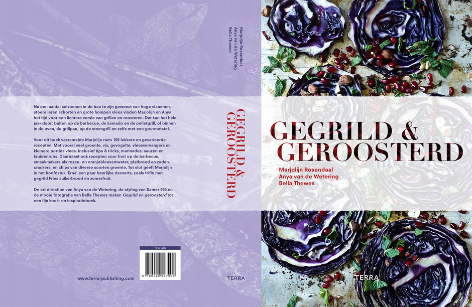 Book design and illustrations by Marijke Lucas - Lucas & Lucas for TERRA - COVER - GEGRILD EN GEROOSTERD