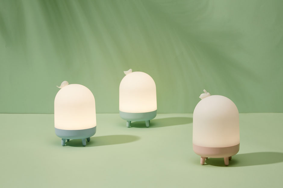 Animal Night Light 'Whale', 'Bird' and 'Rabbit' designed by Lucas & Lucas for MINISO