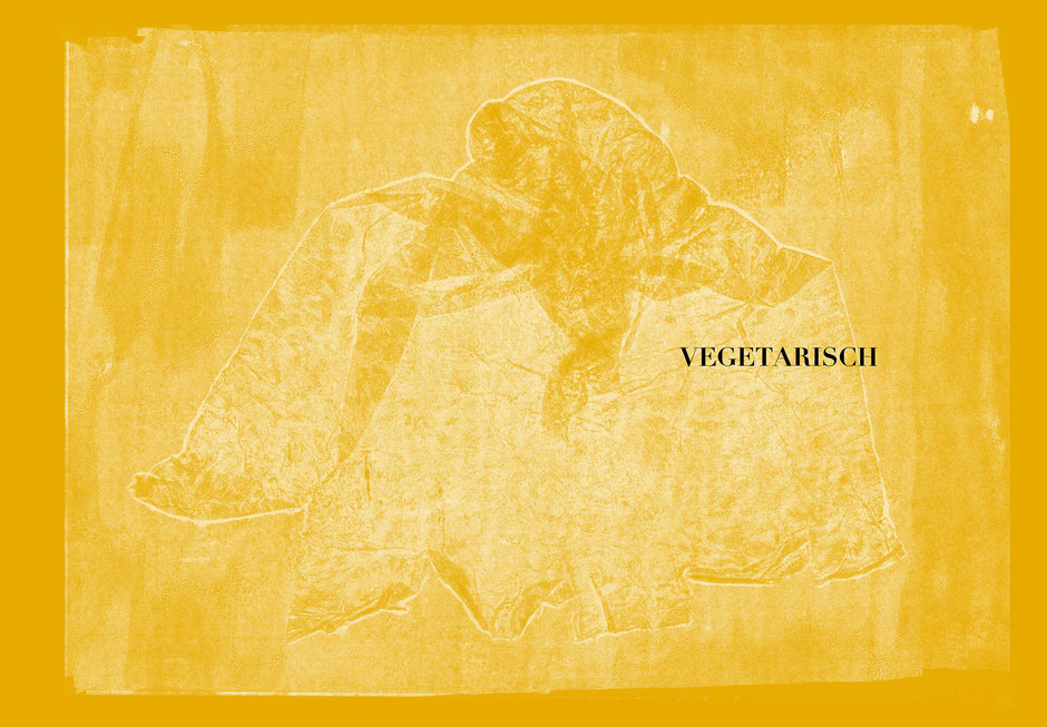 Book design and illustrations by Marijke Lucas - Lucas & Lucas for TERRA - Monoprint VEGETARIAN