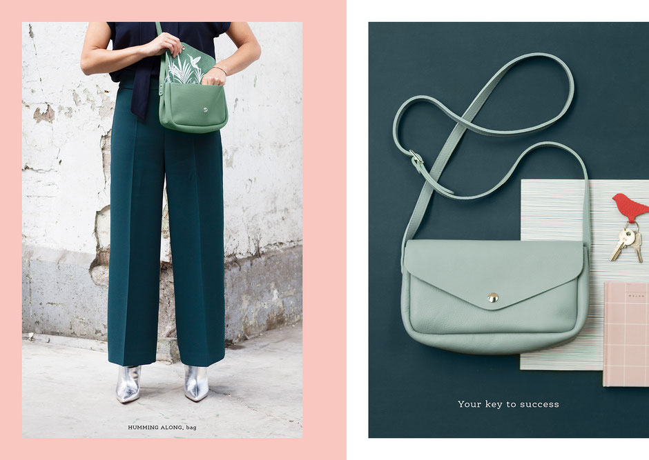 Book design and Art direction by Marijke Lucas - Lucas & Lucas for Dutch bags and accessories label Keecie - BAG - HUMMING ALONG