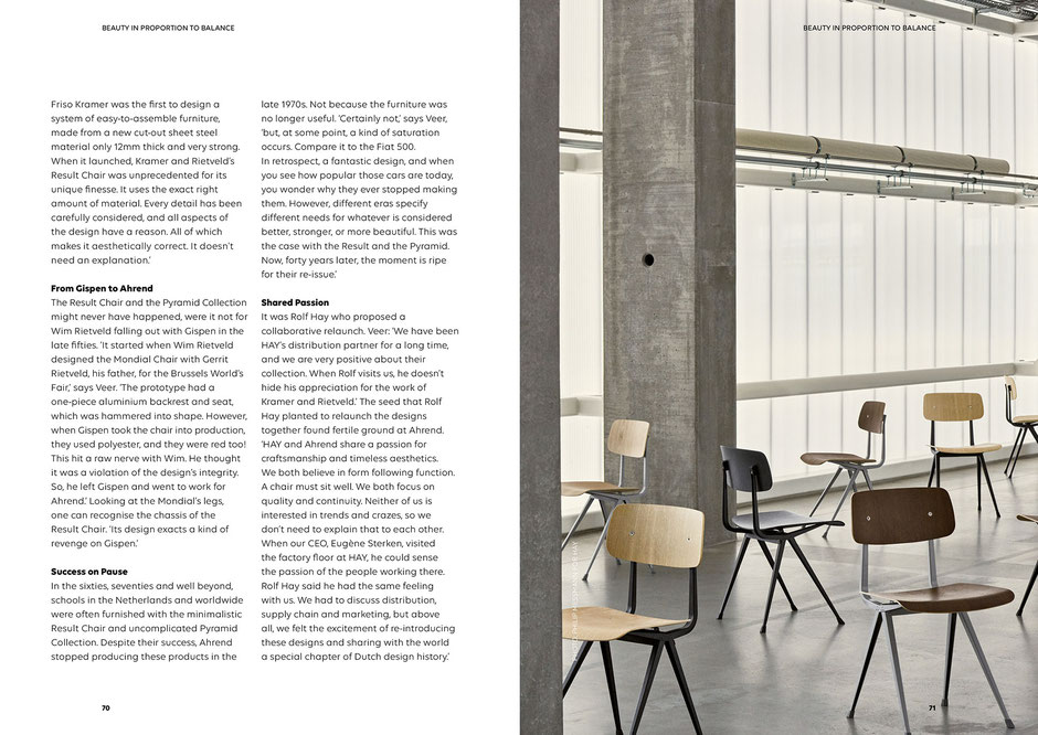 Art direction and book design by Marijke Lucas - Lucas & Lucas, for Ahrend and HAY - Interview with Peter Veer, Senior Vice President of Ahrend