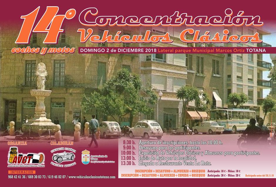 concentracion de vehiculos clasicos de totana 2018