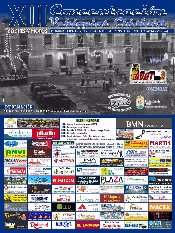 concentracion de vehiculos clasicos de totana 2017