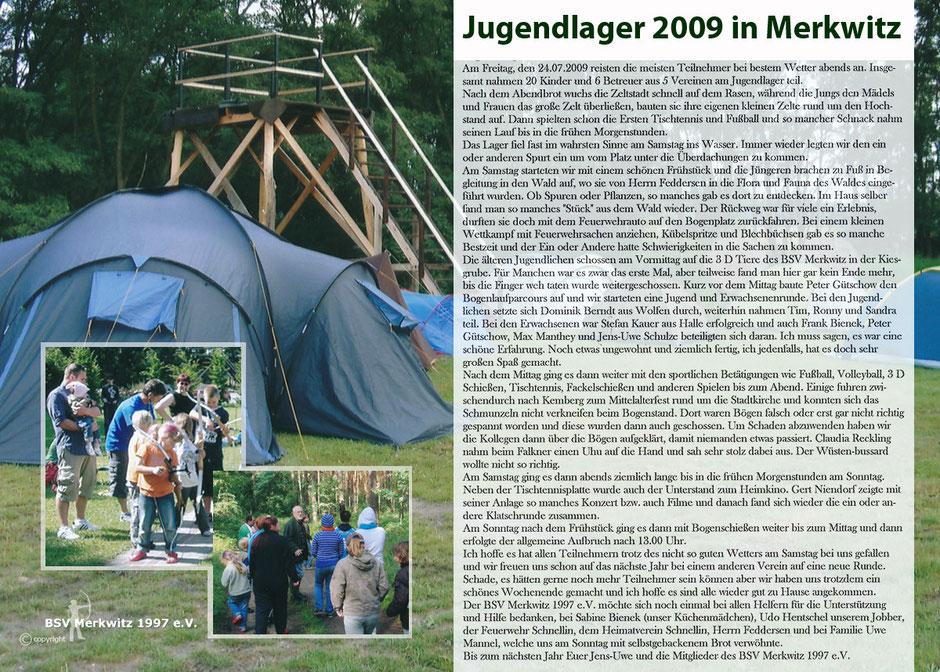 Fotocollage - Jugendlager 2009 - BSV Merkwitz