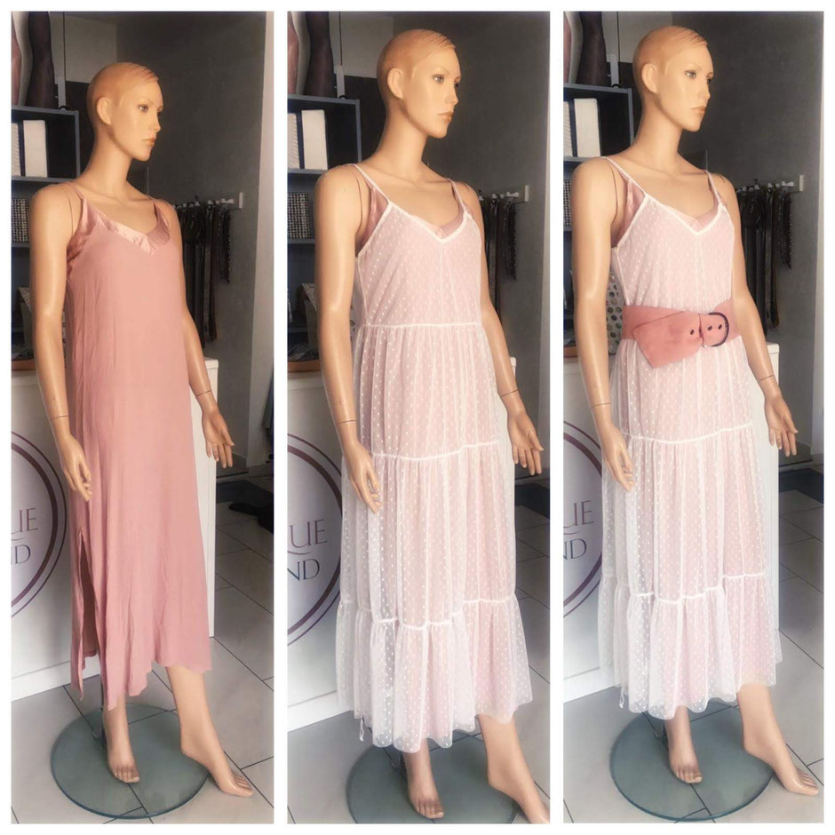 -----AUSVERKAUFT----- Kleid altrosa/Kleid weiß im Set 79.90€ - Gürtel 19.90€ -----AUSVERKAUFT-----