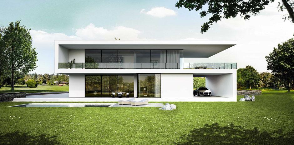 Visualisierung eines Neubauprojektes