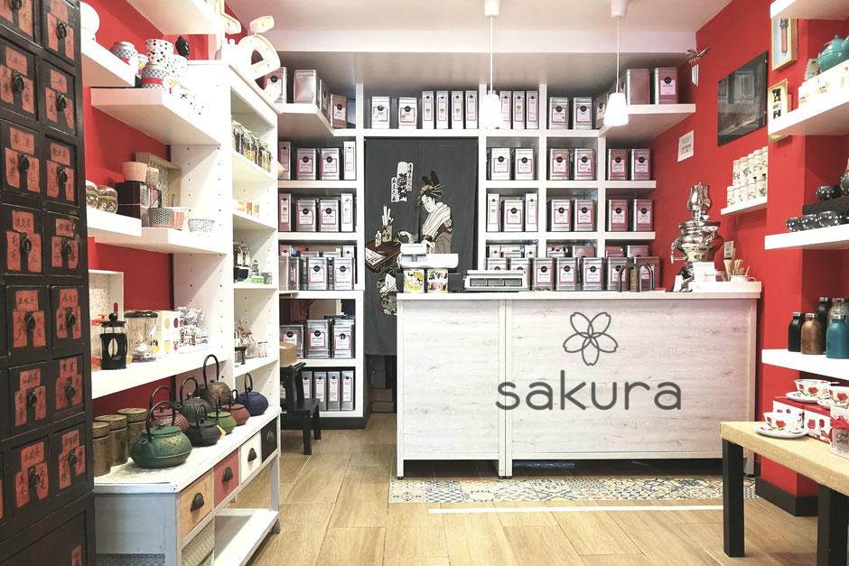 Tienda de té e infusiones Sakura en Burgos
